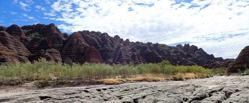 The domes of the Bungle Bungles in Purnululu National Park.