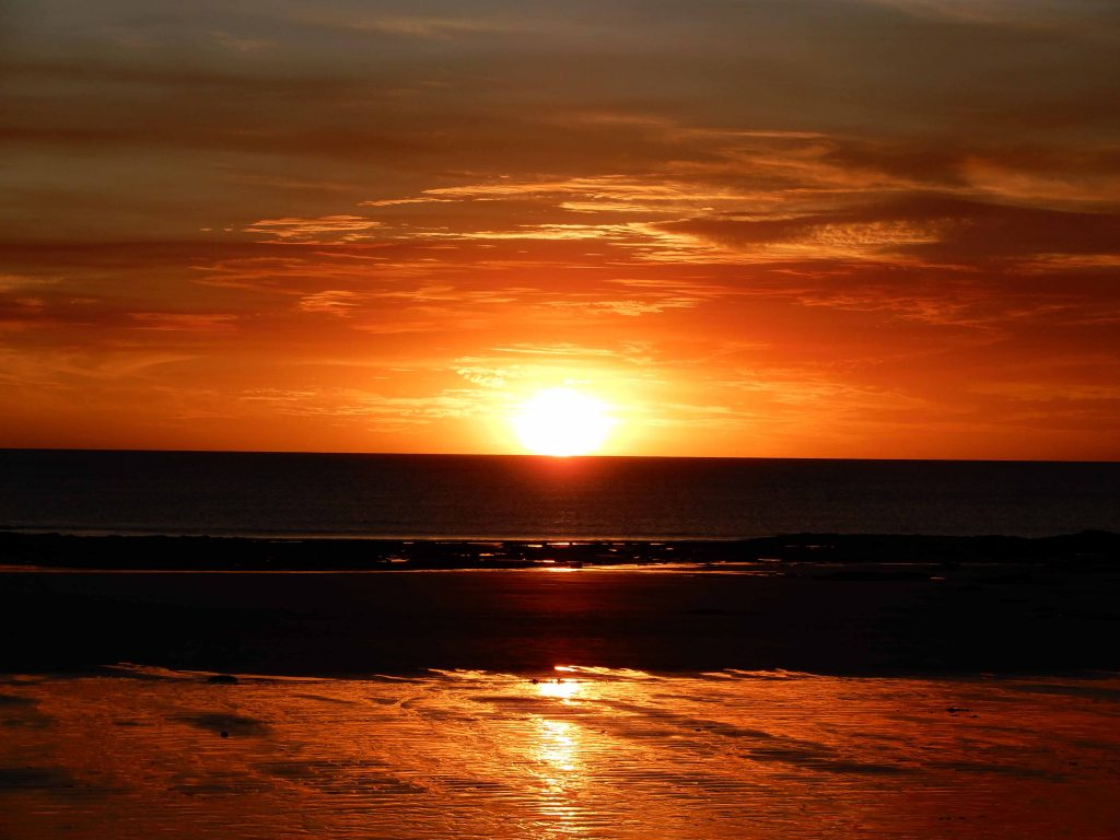 Sunset over Cable Beach in Broome, WA